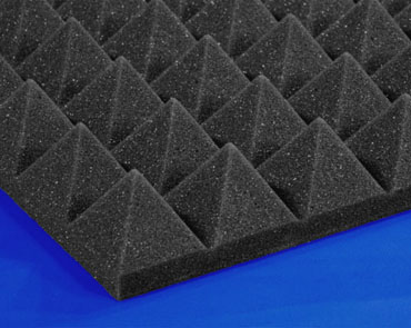 Pyramid foam soundproofing sound control and acoustical for Soundproof foam