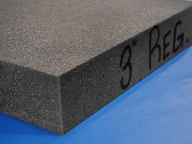 Charcoal Foam Packaging Padding Foam Sheets Open Cell