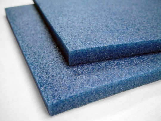 Polyethylene Foam Sheets - 1 7LB Blue